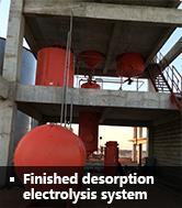 Finished desorption electrolysis system