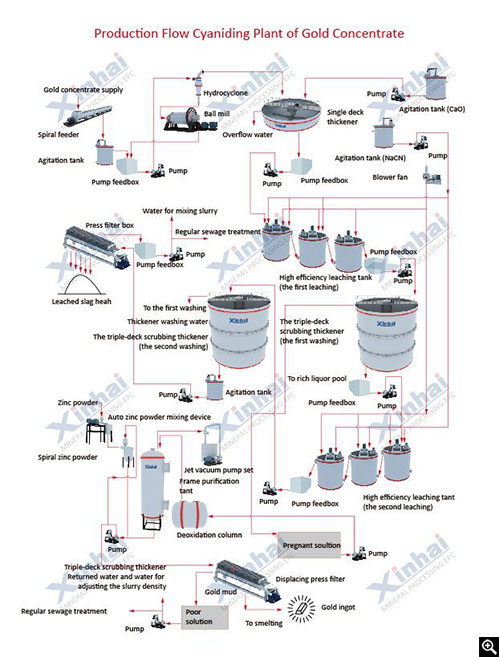 Xinhai CIL Gold Process Flow