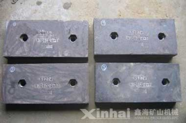 High chromium cast iron liners