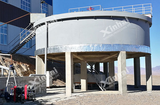 Thickener-of-Morocco-500tpd-silver-ore-flotation-project