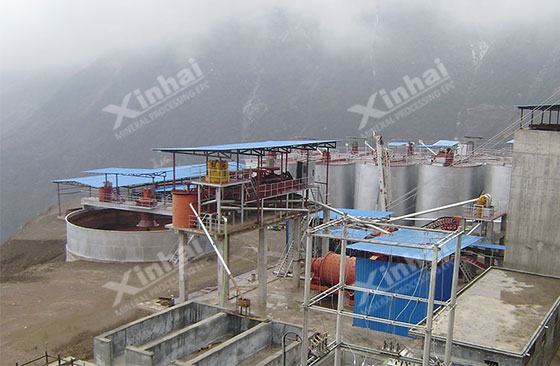 China Gansu 1000tpd gold processing project