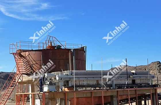Tailing dry system of Sudan Gold Processing Plant