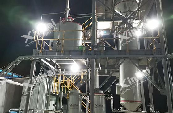Indonesia 700TPD gold ore processing plant Pic1